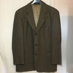 HUGO BOSS Lambs Wool Sport Coat TAN/BLACK BIRDSEYE